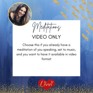 meditation video editing