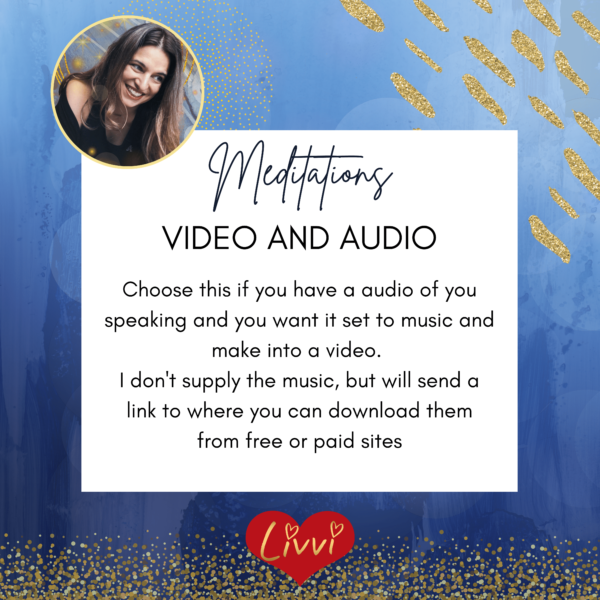 Meditation editing video and audio